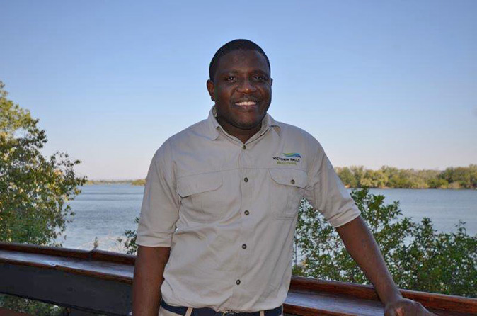 Our hero at Victoria Falls Waterfront
