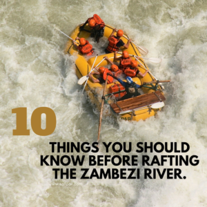 10 Things you should know before rafting the Zambezi River