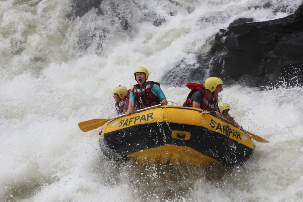 Raft Rapid number five, high adrenaline Zambezi