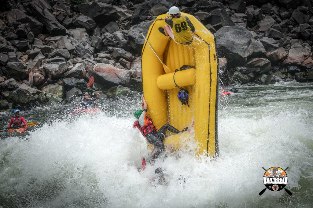 Zambezi River Rafting, tube stand.