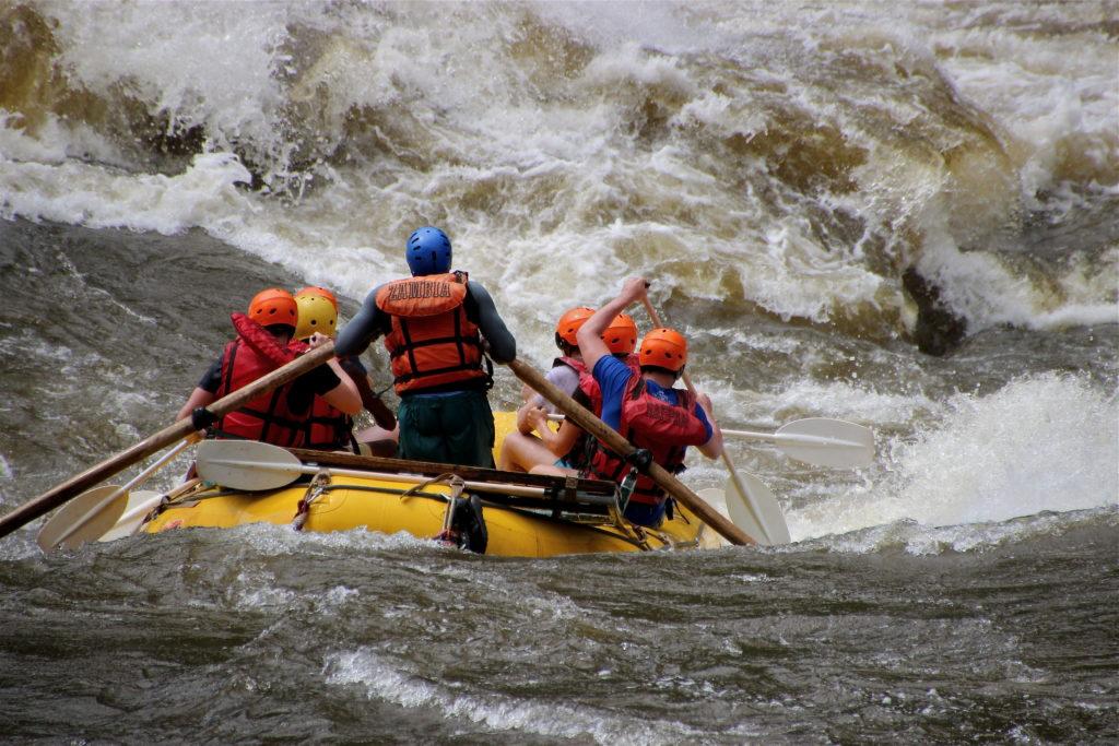 Rafting th Zambezi River, Victoria Falls, Livingstone Zambia.