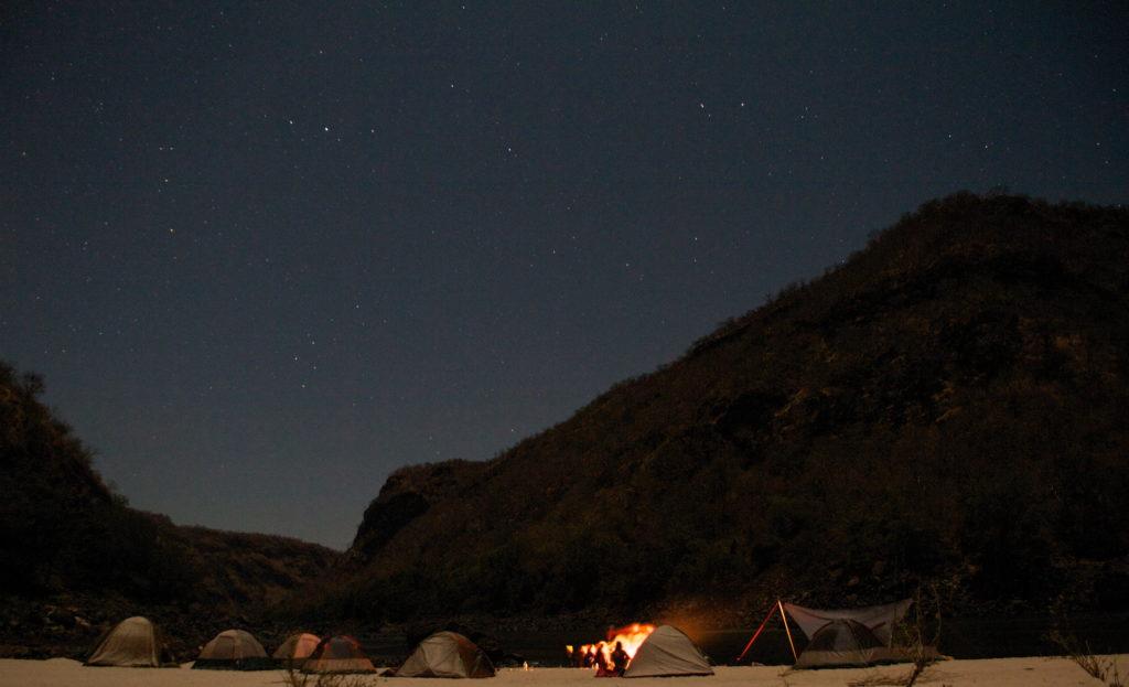 Batoka Gorge, stars, multi-day camping.