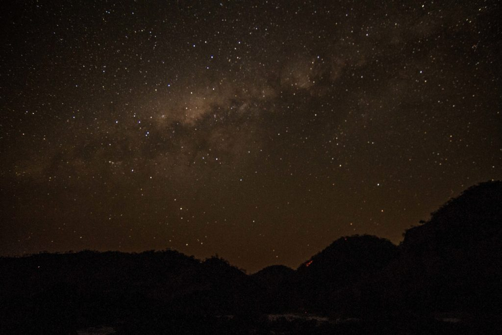 Stars seen on multi-day, white water rafting trip on the Zambezi River Victoria Falls.