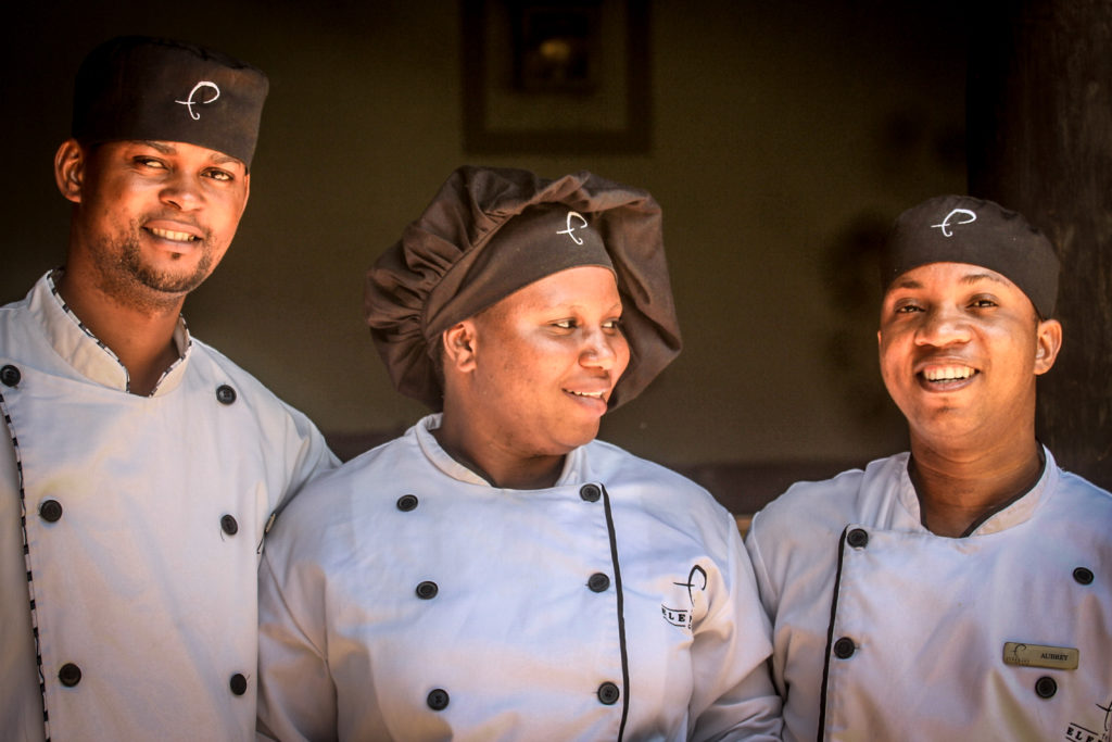 The Elephant Cafe' Chefs, Zambezi River, Victoria Falls, Zambia