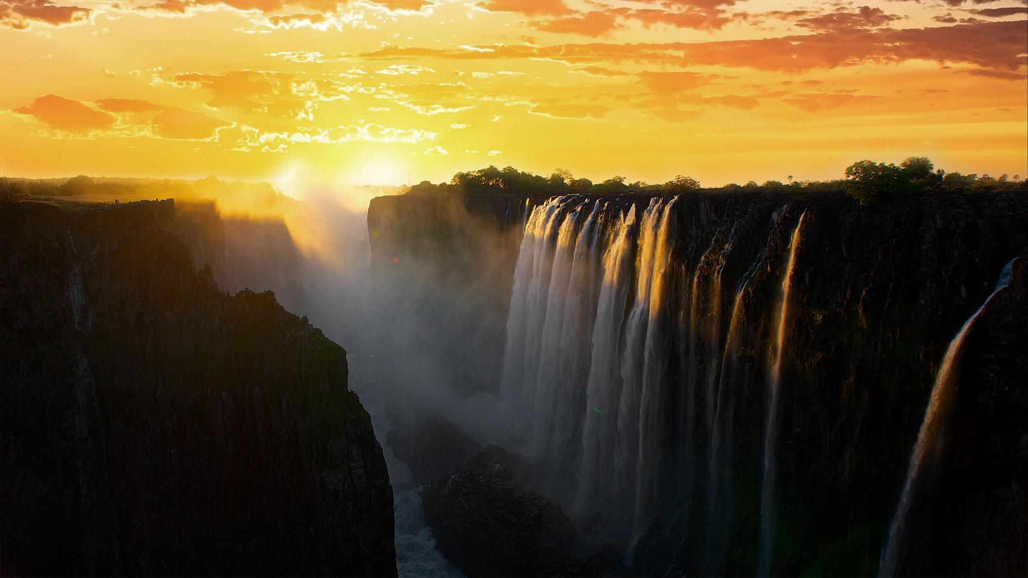 victoria-falls-sunset