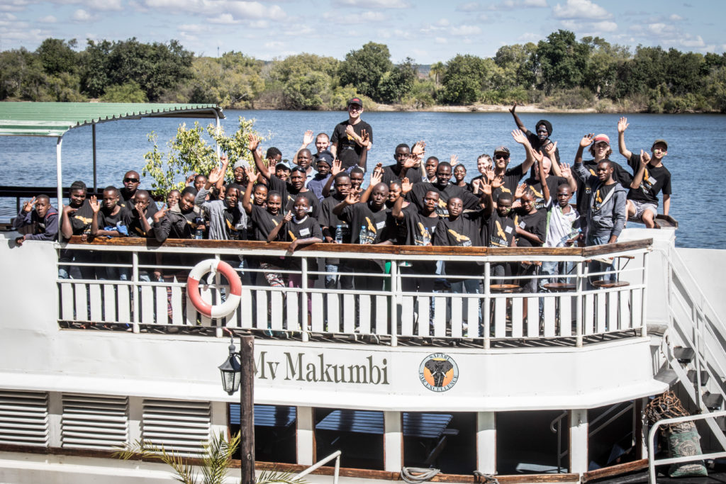 Zambezi River, cruise, charity, giving back.