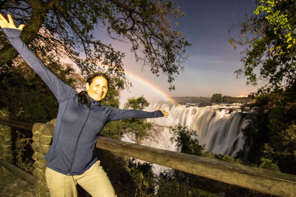Victoria Falls, moonbow, Zambia