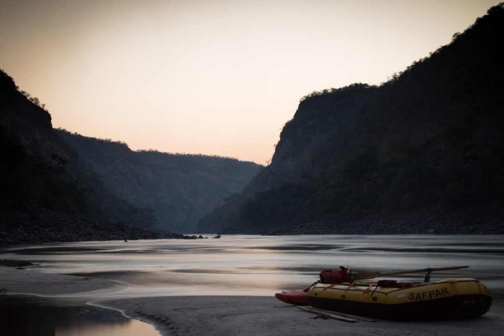 Batoka Gorge, sunrise, below Victoria Falls, Whitewater rafting