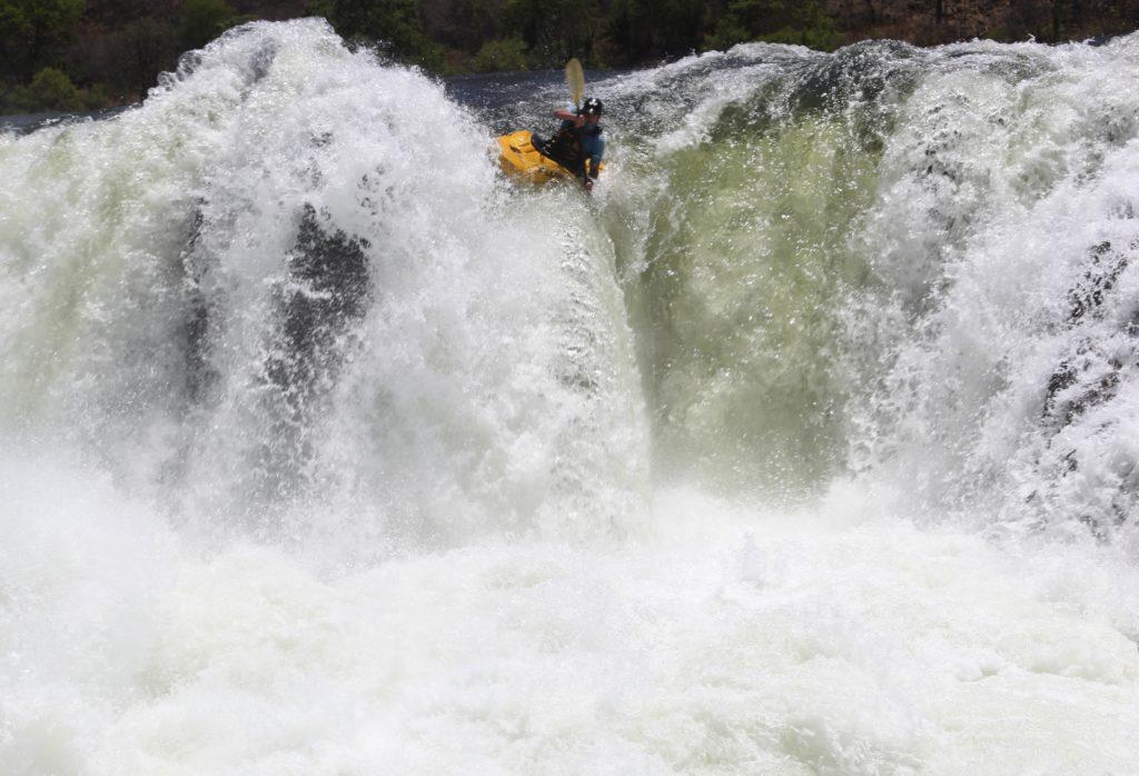 Kayaker, Owen Glover, Zambezi River, Africa, Zambia, Livingstone.