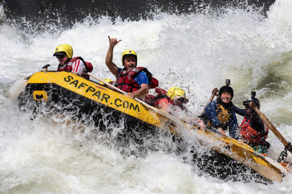 safpar multi-day zambezi white water rafting